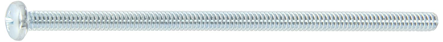 Meets ASME B18.6.3 #2 Phillips Drive #10-24 Thread Size Steel Pan Head Machine Screw Zinc Plated 4-1//4 Length Imported Pack of 10 4-1//4 Length Small Parts FSC10414PPSZ Fully Threaded