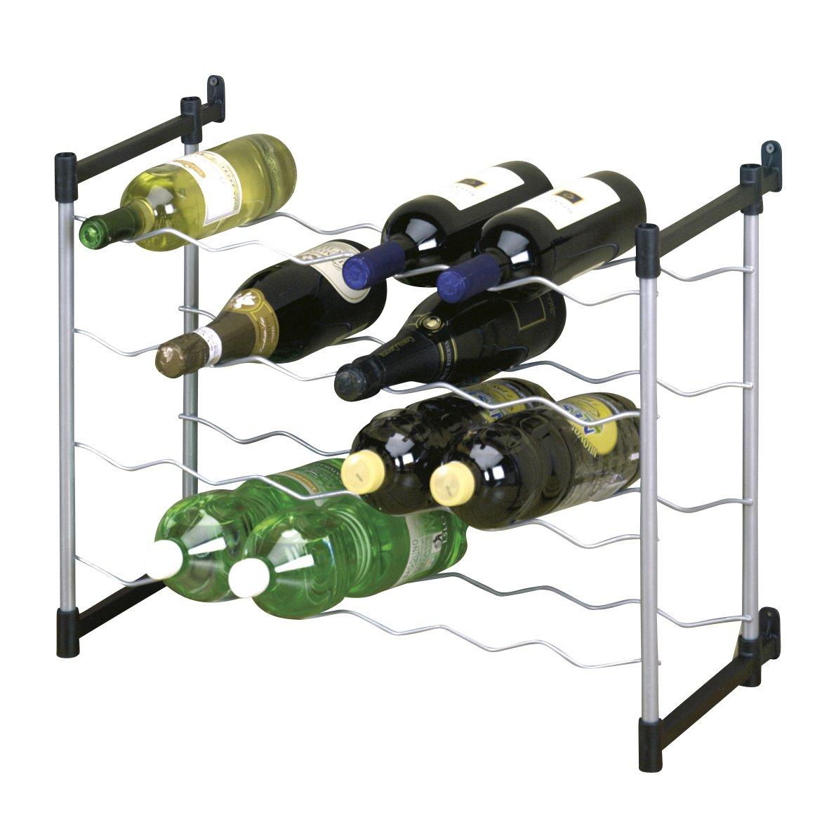 Metaltex 383724039 Flaschenregal Für 24 Flaschen 59 X 26 X 45 Cm