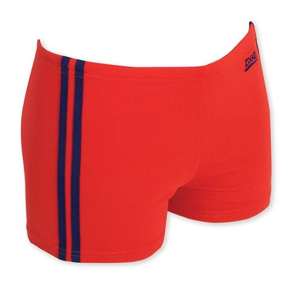 Zoggs Boys Etty Hip Racer Sport Swim Shorts RED