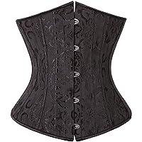 SZIVYSHI Mujer Steampunk Corsé de Underbust Cintura Waist Cincher gótico Bustier Fajas Reductoras de Cinturón Firme de…