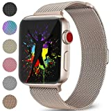 Bands for Apple Watch 42mm Men and Women Milanese Metal Magnetic Mesh Loop Band for Apple iWatch Series 3 2 1, Champagne