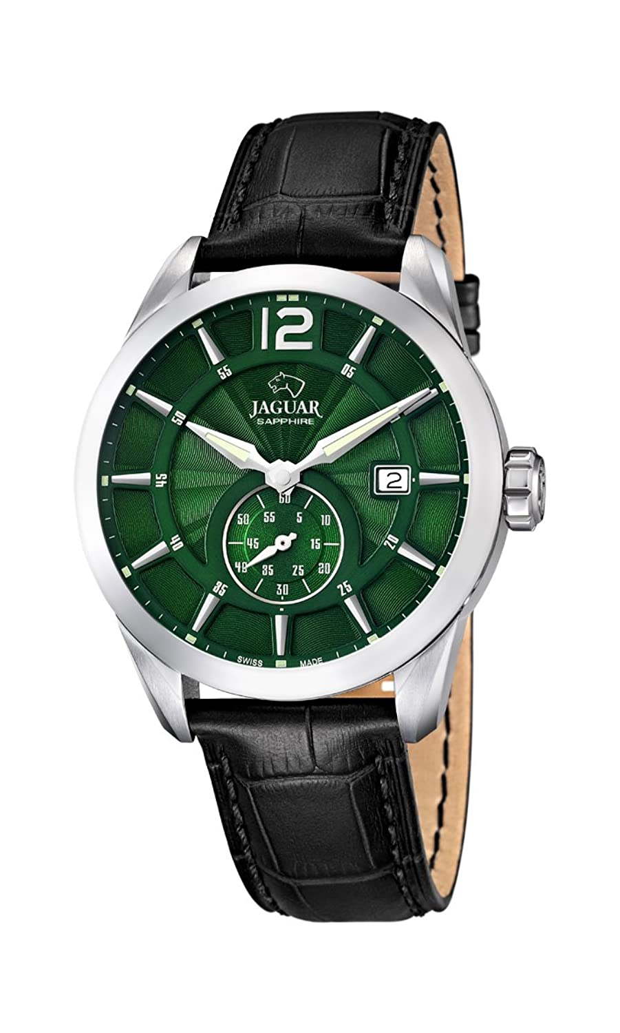 Jaguar Watches Herren-Armbanduhr XL Analog Quarz Leder J663-3