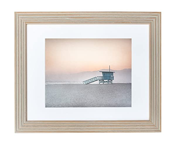 framed art print coastal beach wall decor 11x14 rustic wood picture frame displaying an 8x10