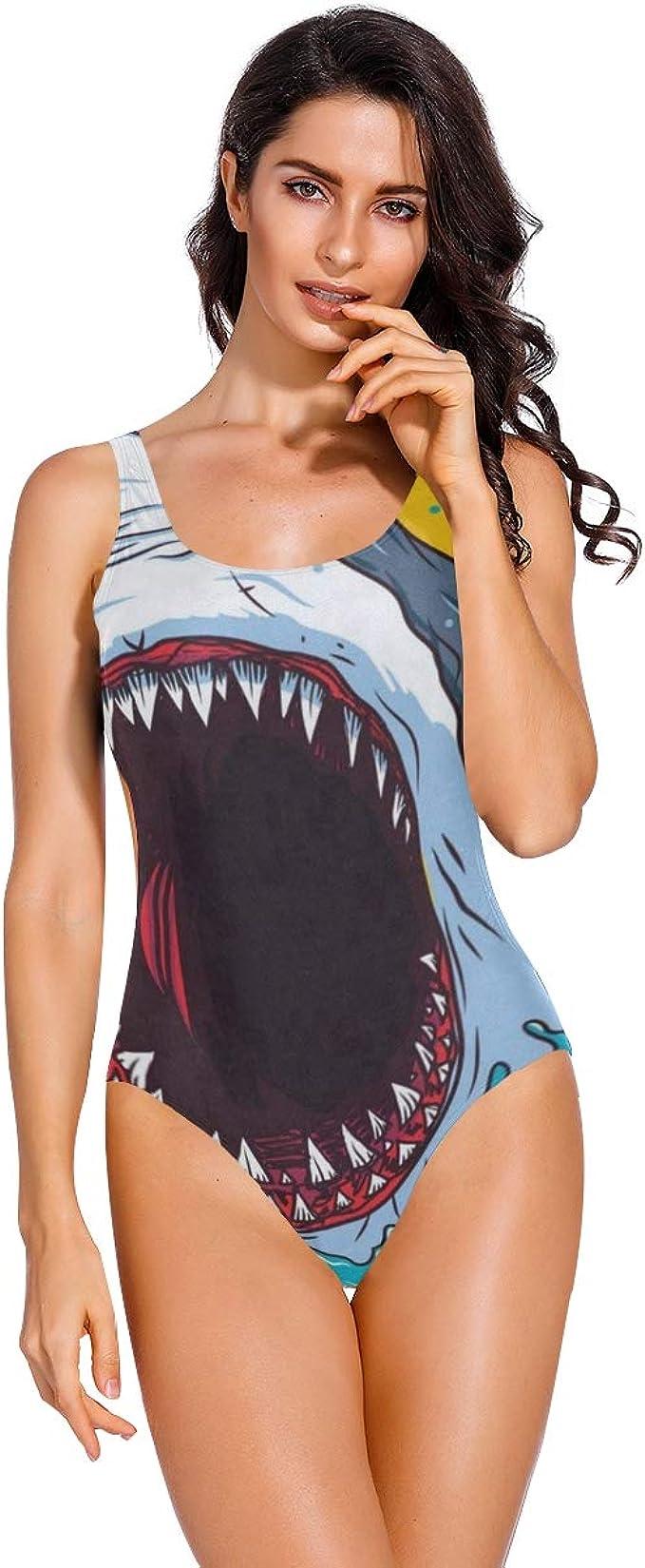 Womens  One-piece Swimwear Swimsuit Bodysuit Cartoon Gamers GAME THRONES