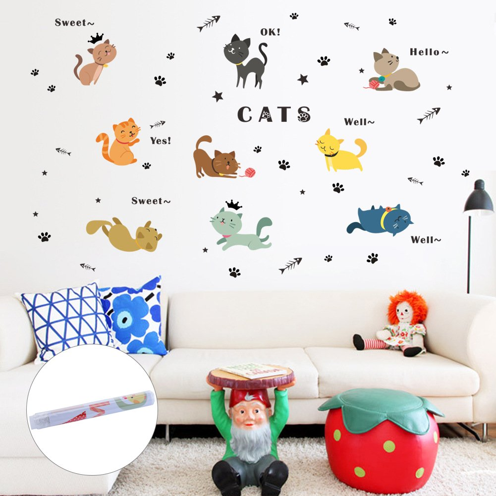 LianLe 22*40cm Wall Sticker Before Leaving All Things to Bring Removable Quote Mural Decal for Living Room Kid's Room Bedroom