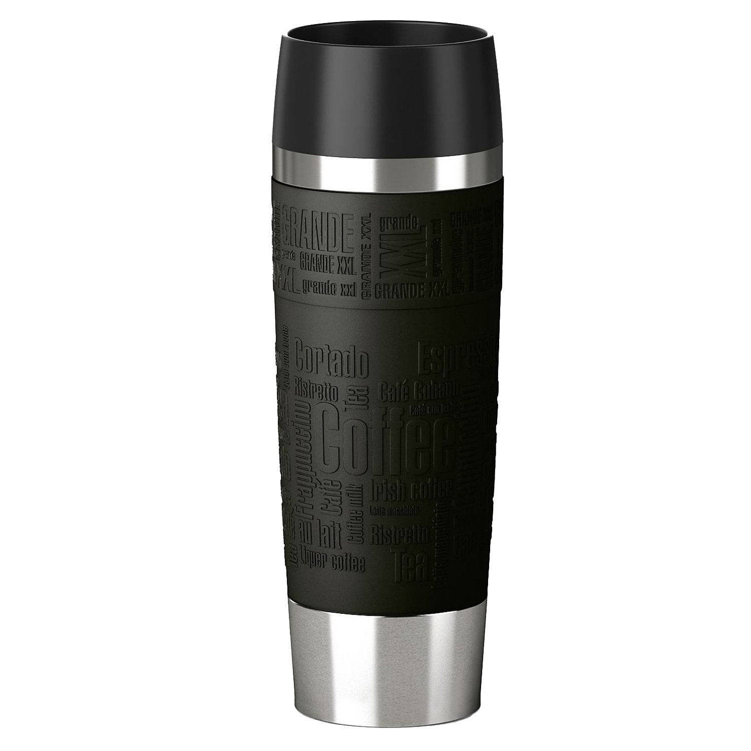 Emsa 515615 Isolierbecher (Mobil Genießen, 500 Ml, Quick Press Verschluss,  Travel Mug