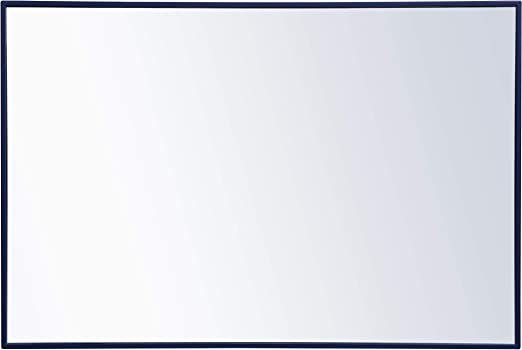 Amazon Com Elegant Decor Metal Frame Rectangle Mirror 28x 42 Inch In Blue Home Kitchen