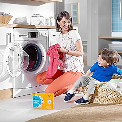 EJ Laundry Detergent Sheets, Portable Stain Remover, Fresh Scent Fabric softener, No Spill Like Liquids, 30 Loads