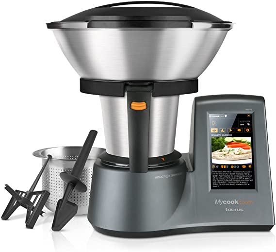 Taurus Mycook Touch - Robot de Cocina, wifi, 1600W, 2L, hasta 140º ...