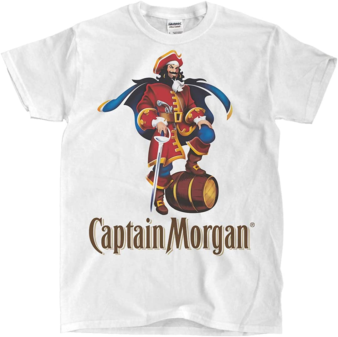 New Captain Morgan Rum Black T-Shirt Ships Fast T-Shirt S-5XL