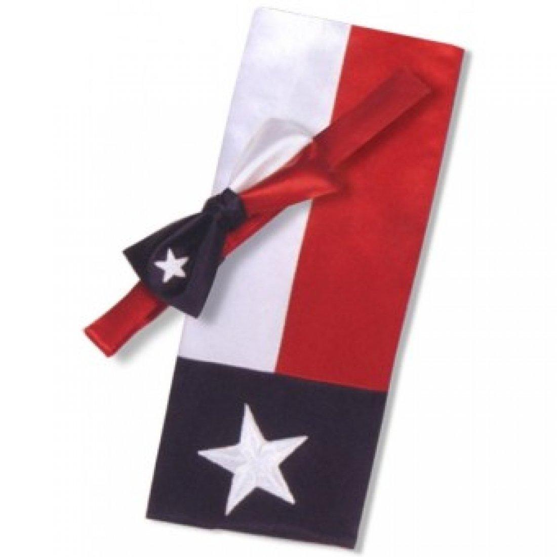 White Red and Blue Texas Star Tuxedo Cummerbund and Bow Tie 18966