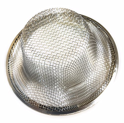 2 pcs Kitchen Sink Strainer- Made in USA - Fits standard size kitchen sink drains (Mesh Sink Strainers)