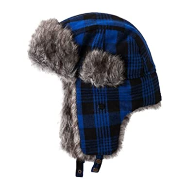 a82e3db6ce094 Image Unavailable. Image not available for. Color  Urban Pipeline Mens Blue  Plaid Trapper Hat ...