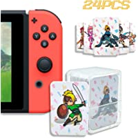 24 Pcs NFC Tag Game Cards for The Legend of Zelda - Breath of The Wild (BotW), Compatible for Switch/Wii U/3DS XL with…