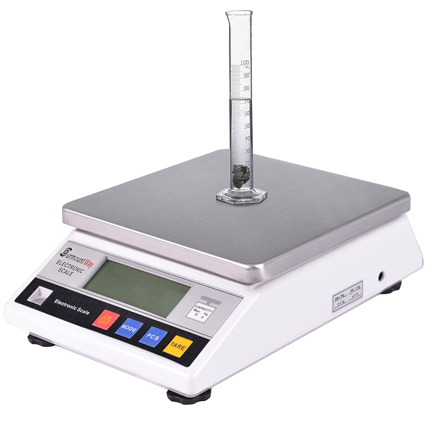 SurmountWay High Precision Scale 10kg x 0.1g Accurate Digtal Laboratory Lab Industrial Scientific Electronic Scale Commerical Counting Kitchen Scales Jewelry Gold Analytical Weighing(10000g,0.1g)