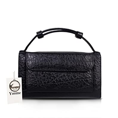 df33e62a309c Yoome Womens Leather Mini Size Fashion Purse Clutch Handbag Chain Shoulder  Bags For Girls - Black