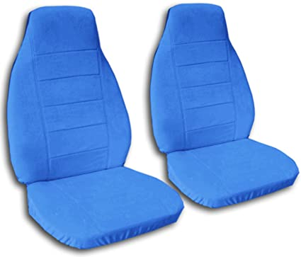 Solid Color Car Seat Covers Light Blue