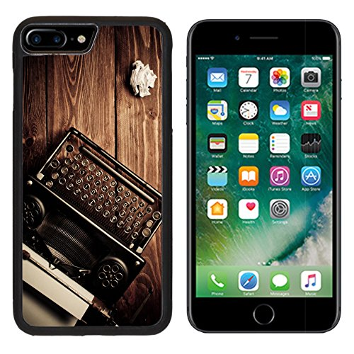 MSD Premium Apple iPhone 7 Plus Aluminum Backplate Bumper Snap Case Vintage typewriter and a sheet of paper retouching retro IMAGE 20569454