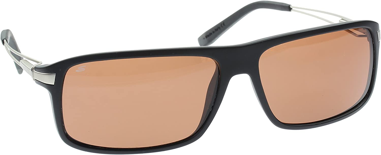 Serengeti Gafas de Sol, Modelo Rivoli Negro Mate, Lentes ...