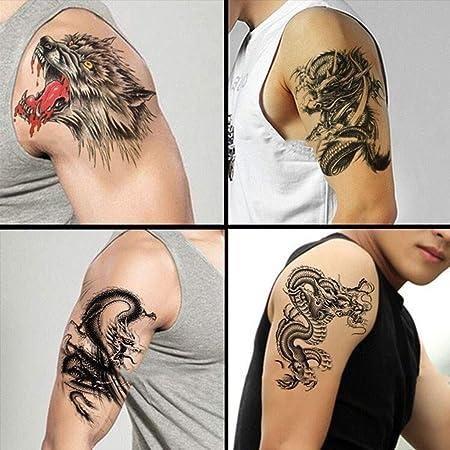 YSYYSH Pegatinas de Tatuaje for Hombres y Mujeres Pecho Brazo ...