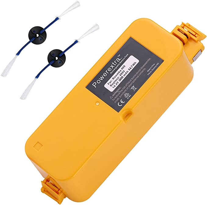 Amazon Com Powerextra 14 4v 3800mah Ni Mh Replacement Battery Compatible With Irobot Roomba 400 Series Roomba 400 405 410 415 416 418 4000 4100 4105 4110 4130 4150 4170 4188 4210 4220 4225 4230 4232 4260 4296 Home Improvement