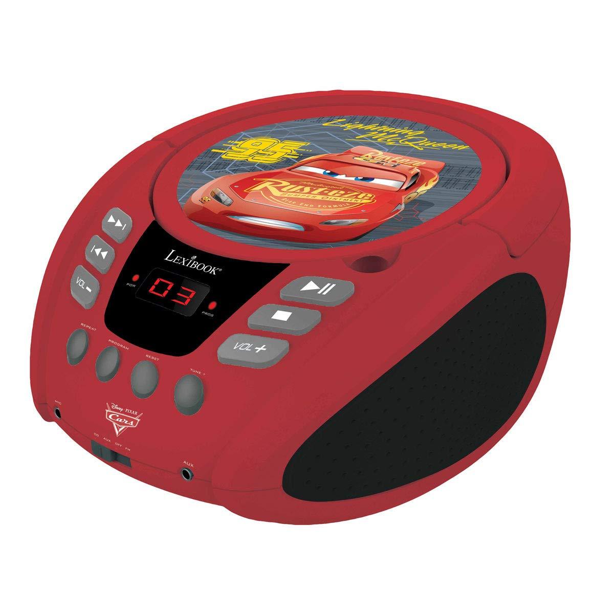 Rcd108DC prise /écouteurs Lexibook entr/ée line-in avec piles Basics Radio Lecteur Cd Cars 3