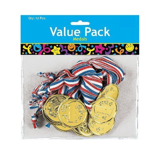 Achievement Award Medal (Fun Express Gold Tone Winner Award Medals (2-Pack of 12))