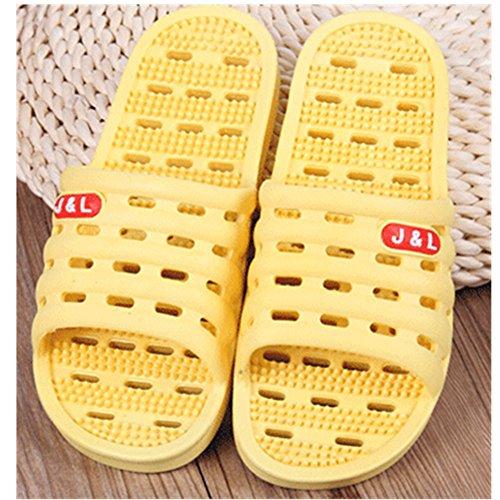 KAKA(TM) Household Slippers Comfortable anti-skid Bathroom Washing Shower Beach Shoe massage slippers Couple Rubber Sandal Slipper