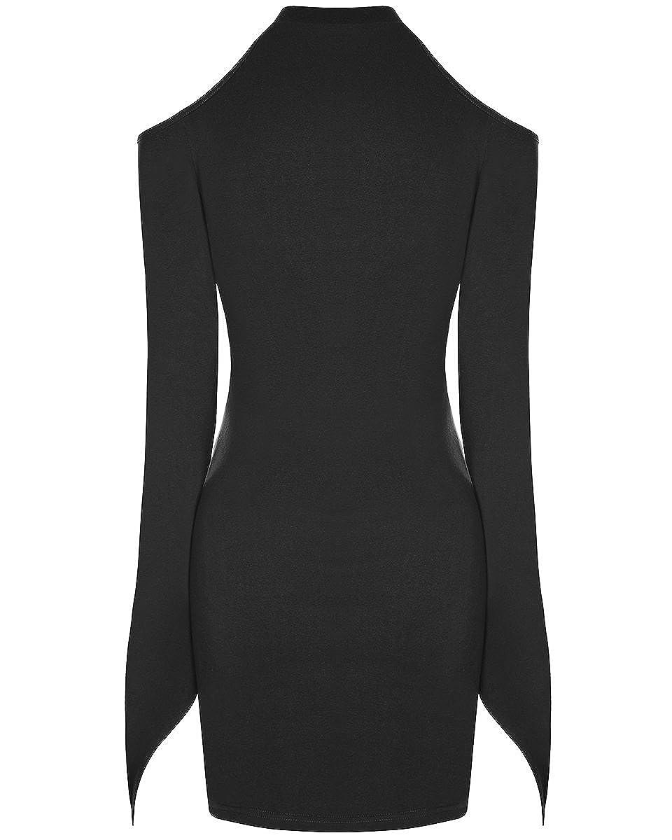 ba9c5a8cfb1f Punk Rave Gothique Mini Robe Noir pour Femmes Punk sorcière Occulte Manches  Longues Moulant - Noir, M L - UK Womens Size 10-12  Amazon.fr  Vêtements et  ...