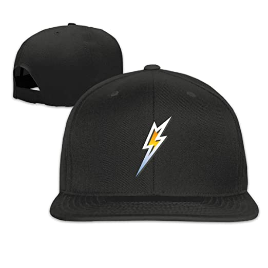 f7b7b96e Image Unavailable. Image not available for. Color: Silver Lightning Bolt  Flat Bill Baseball Cap Adjustable ...
