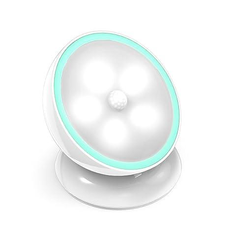 Luz Nocturna con Detector de Movimiento,ABREOME USB Rechargeable LED Luces,Auto On/