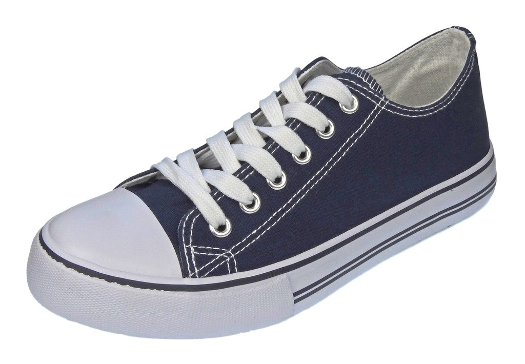 Pierre Dumas Women's Logan-1 Fashion Canvas Lace-Up Sneakers B01M685MNE 6 B(M) US|Navy