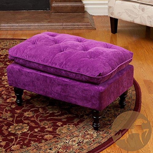 - Metro Shop Christopher Knight Home Jeremy Purple Tufted Ottoman