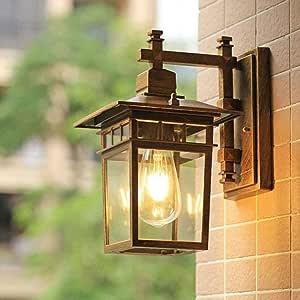 Amazon.com: WHYA E27 American Outdoor Wall Lamp Waterproof ...