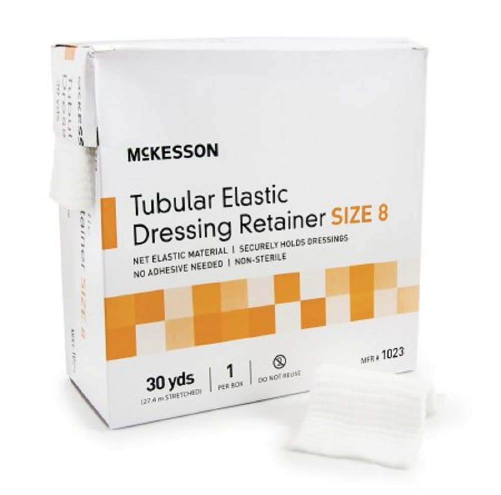 McKesson - Retainer Dressing McKesson Tubular Elastic Dressing Elastic Net 30 Yards Size 8 - 10/Case - McK