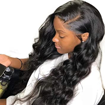 Amazoncom Dolago 360 Lace Frontal Wig Loose Curly Wave For Black
