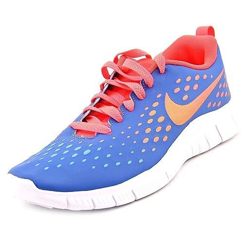 b0470097c8c7 Nike Girls Free Express Running Shoes-Military Blue-5