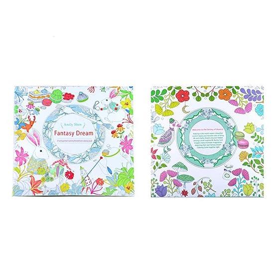 Amazon Fun Adult Coloring BookFantasy Dream Designs Stress Relief Book Mandalas Animals Toys Games