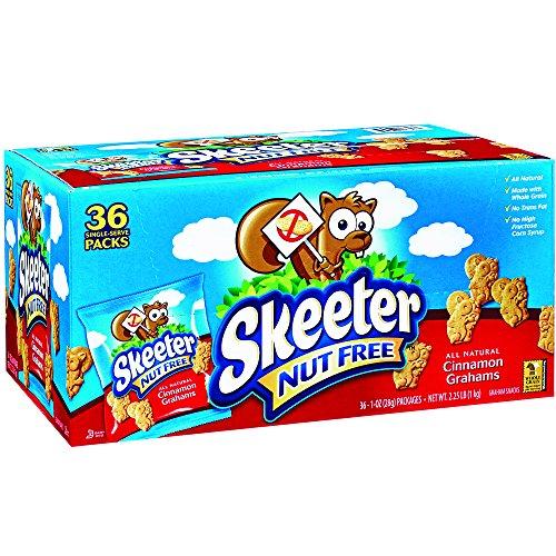 Skeeter Nut Free Graham Snacks, Cinnamon, 36 Count