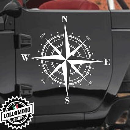 2x Adesivi Bussola Rosa Dei Venti New Fuoristrada Fiancate Jeep