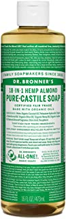 product image for Dr. Bronner's - Pure-Castile Liquid Soap (Almond, 16 oz) - Made with Organic Oils, 18-in-1 Uses: Face, Body, Hair, Laundry, Pets & Dishes, Concentrated, Vegan, Non-GMO