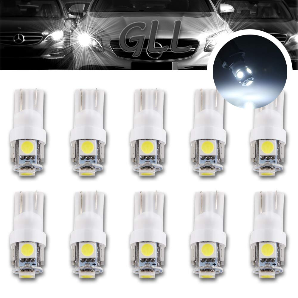 W5W T10 501 Wedge 4 TOP 5050 SMD LED CAN BUS Interior Sidelight car bulb White A