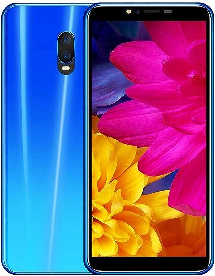 5.5in Dual SIM Smartphone, 2GB RAM 16G Memoria,3G Doble Núcleo,Función de Reconocimiento de Rostro,Desbloqueo de huellas dactilares,3000Mah Batería,Android 6.0 Telefono Movil Inteligente(Azul): Amazon.es: Electrónica