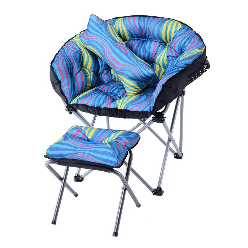 Chaise de Sol, Chaise élégante Pliante de Sofa Paresseux avec Repose-Pieds et Oreiller, Facile à Ranger et à Transporter, pour la Maison/Le Plein air/Le Voyage