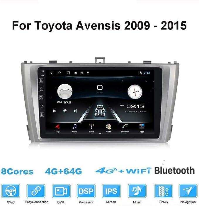 Android Autoradio 2 Diutoradio Mit Navi Für Toyota Avensis 2009 2015 Unterstützt Touchscreen Gps Navigation Radio Bluetooth Park Kamera Lenkrad Bedienung 4g Wifi 4g 64g Navigation