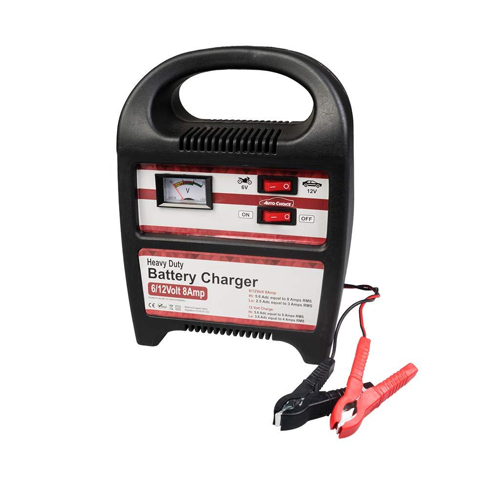 con Hi//Low Carica Analogico Autochoice 6v//12v 8Am P Moto // Auto Carica Batterie Ce Rohs Compatibile Con