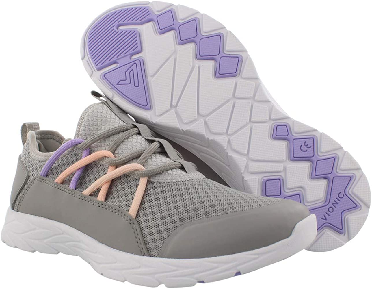 Vionic Sky Jessica Womens Velcro Trainer Supportive Walking Shoes That Includes Three-Zone Comfort for Heel Pain and Plantar Fasciitis with Orthotic Insole Arch Support Wide Fit