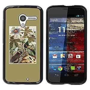 Be Good Phone Accessory // Dura Cáscara cubierta Protectora Caso Carcasa Funda de Protección para Motorola Moto X 1 1st GEN I XT1058 XT1053 XT1052 XT1056 XT1060 XT1055 // Golden Flo