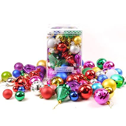 kasos 30 picecs christmas ball ornaments shatterproof christmas decorations tree balls pastel colorful red green gold - Pastel Christmas Decorations