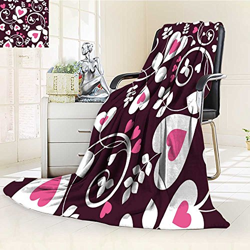 (Decorative Throw Blanket Ultra-Plush Comfort seamless background from a hearts ornament fashionable modern wallpaper or text Soft, Colorful, Oversized   Home, Couch, Outdoor, Travel Use(60